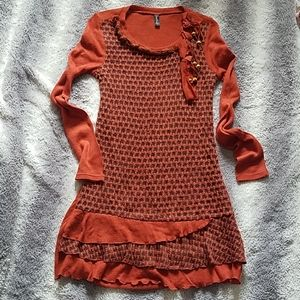 Sacred Threads Sweater Dress Sz S